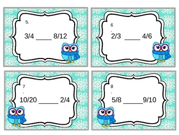 Equivalent Fraction Task Cards with QR codes
