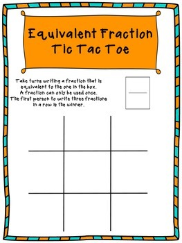 Equivalent Fraction Tic Tac Toe