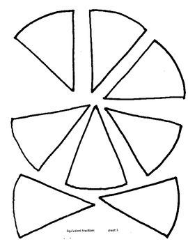 Equivalent Fraction Wheels