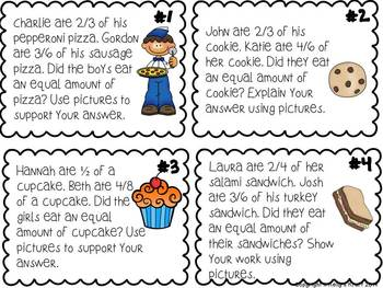 Equivalent Fraction Word Problems by Kelly's Kraft | TpT