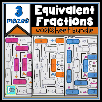 Equivalent Fraction Worksheet Bundle