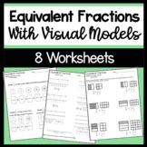 Equivalent Fraction Worksheets with models