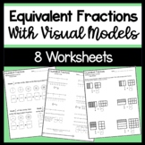 Equivalent Fraction Worksheets with models