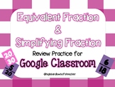 Equivalent Fraction and Simplifying Fraction Review for Google Classroom