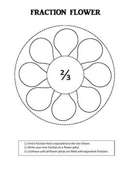 Equivalent Fractions (Fraction Flowers)