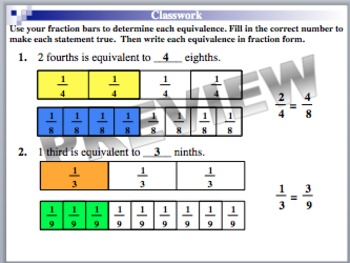 Equivalent Fractions 1 (Part of Fractions Unit)