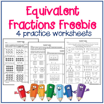 Equivalent Fractions by Jan Lindley | Teachers Pay Teachers