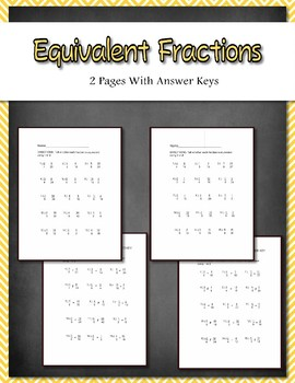 equivalent fractions 2 work by teacheractivitymaker teachers pay teachers. Black Bedroom Furniture Sets. Home Design Ideas
