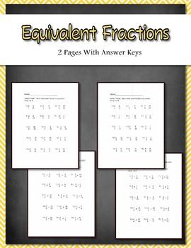 equivalent fractions 2 work by teacheractivitymaker teachers pay teachers. Black Bedroom Furniture Sets. Home Design Ideas