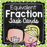 Equivalent Fractions Task Cards for Centers, Review, Scoot, & Test Prep