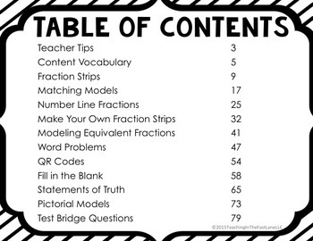 Equivalent Fractions Test Prep Math Stations
