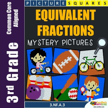 Equivalent Fractions Activity, 3rd Grade Fraction Worksheets