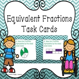 3rd Grade Equivalent Fractions Task Cards Equivalents Fraction Activity 3.NF.3