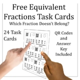 FREE Equivalent Fractions Task Cards Distance Learning