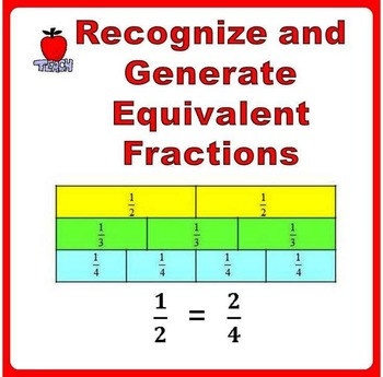 Fractions Worksheets 3rd, 4th Grade - Equivalent Fractions