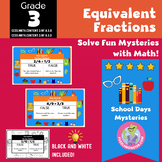 Fall Math Activities - 3rd Grade Equivalent Fractions