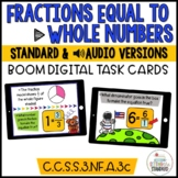 Equivalent Fractions 3rd grade Boom Cards