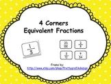 Equivalent Fractions 4 Corners