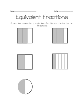 Equivalent Fractions 4.NF.A.1