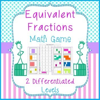 Equivalent Fractions Game 4 in a Row