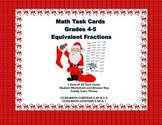 Equivalent Fractions 40 Task Cards Grades 4-5 Candy Cane Theme