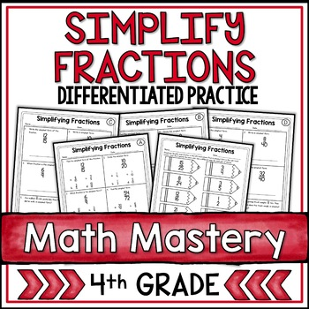 Simplifying Fractions and Simplest Form Worksheets