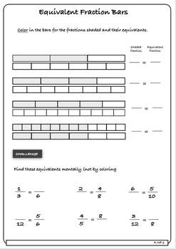 Equivalent Fractions - 4th Grade (vanilla version)