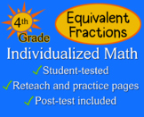 Equivalent Fractions, 4th grade - Individualized Math - wo