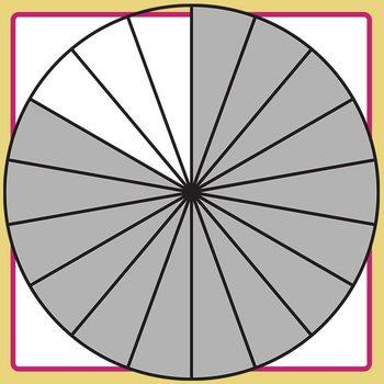 Equivalent Fractions - 5/6 - Four Sevenths Math Clip Art Set Commercial Use