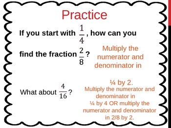 Equivalent Fractions (5th Grade EnVision Math Power Point)