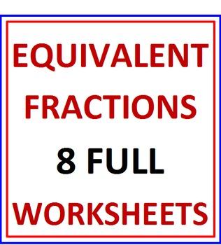 Equivalent Fractions 8 Worksheets