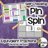 Equivalent Fractions - Self-Checking Math Centers