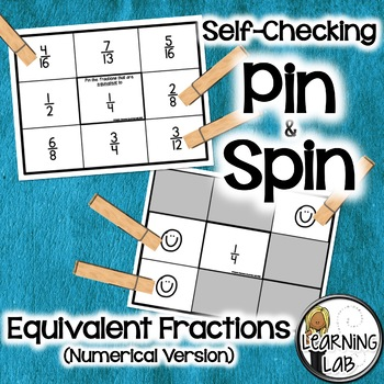 Equivalent Fractions - A Pin & Spin Activity