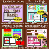 Equivalent Fractions Activities 3 in One Bundle