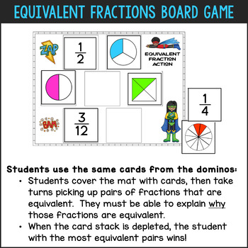 Differentiated Equivalent Fractions Activities by Fun for Learning