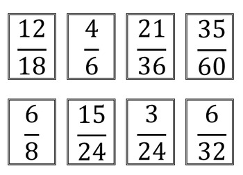 Equivalent Fractions Sort Activity