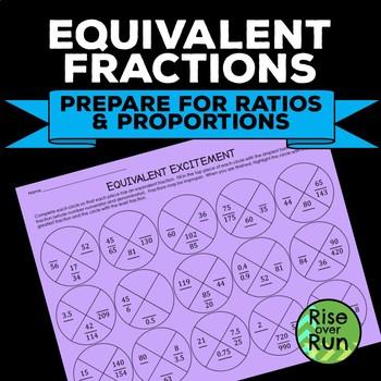 Equivalent Fractions Practice Worksheet