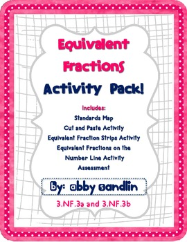 Equivalent Fractions Activity Pack - 3.NF.3a and 3.NF.3b