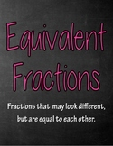 Equivalent Fractions Anchor Charts