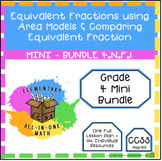 Equivalent Fractions - Area Models & Comparing  - 4.N.F.1 - Mini Bundle