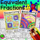 Equivalent Fractions Art Projects