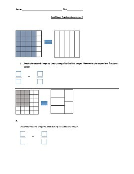 Equivalent Fractions Assessment