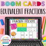 4.NF.A.1 Equivalent Fractions BOOM CARDS 2nd Grade Digital Task Cards