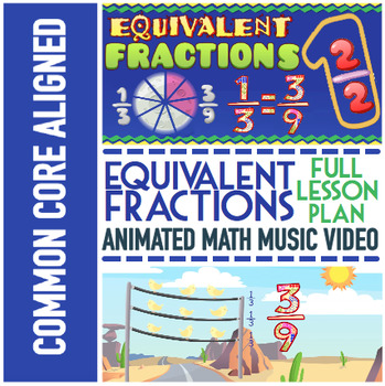 EQUIVALENT FRACTIONS Worksheets ★ With Equivalent Fractions Game & Video