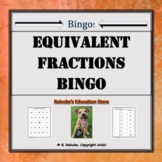 Equivalent Fractions Bingo (30 pre-made boards)