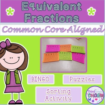 Equivalent Fractions Bingo and More