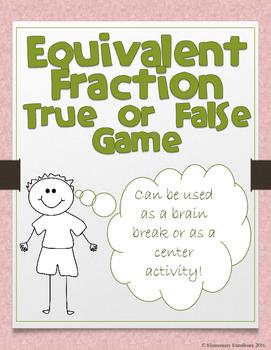 Equivalent Fractions Brain Break Activity