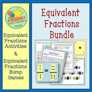 Equivalent Fractions Bundle - Strategies, Challenges and ""