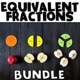 Equivalent Fractions on a Number Line Bundle