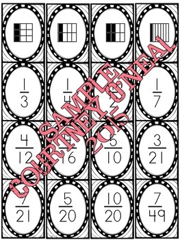 Equivalent Fractions Card Deck (TEK 4.3)